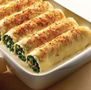Cena-de-navidad-plato-2-Canelones-de-espinaca-receta-navidad-año-nuevo-vegatariana-vegano-bechamel-salsa-blanca