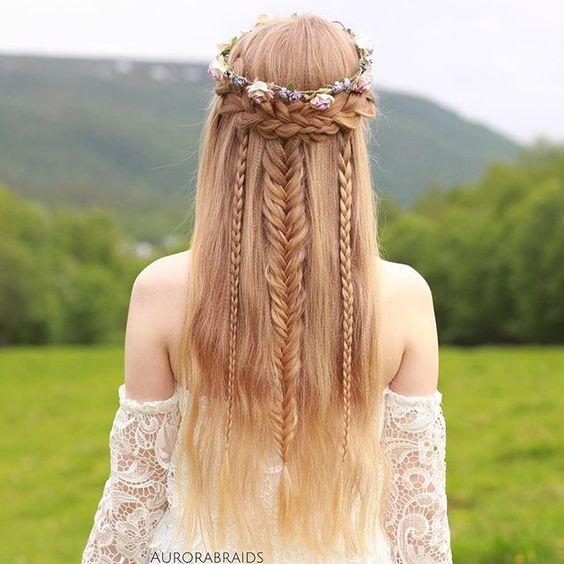 peinados con trenzas recogidos trenza vikinga